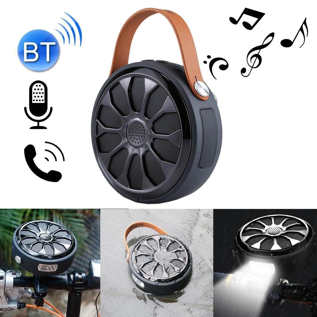 Stereo Bluetooth Speaker, Dukungan Jawab/Tutup/Tolak Panggilan & Kartu Tf dan Fungsi Senter, untuk iPhone, Galaxy, Sony, Lenovo HTC, Huawei, Google LG Xiaomi, Earphone Smartphone
