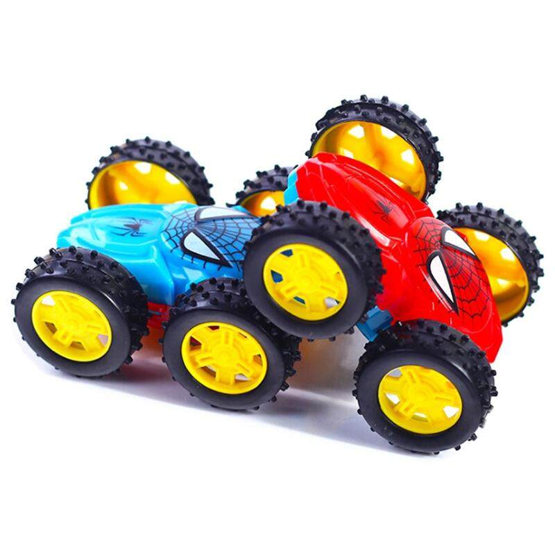 Novelty Inertia Alloy Car Back To Force Stunt Toys Dumpers Spider Double-sided Stretch Car