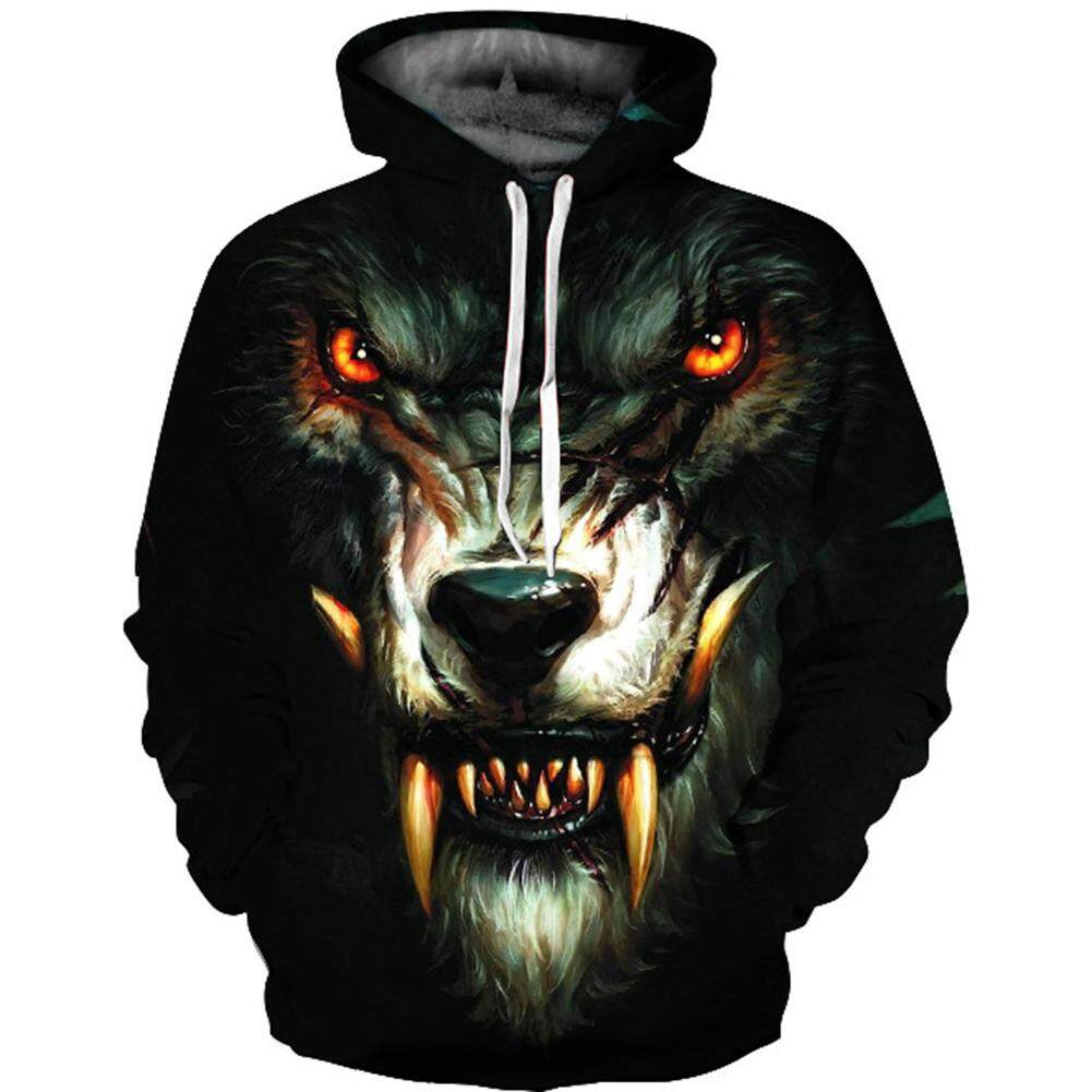 Unisex Snow Wolf 3D Men Women Print Hoodie Sweatshirt Pullover Jumper Hoody Coat