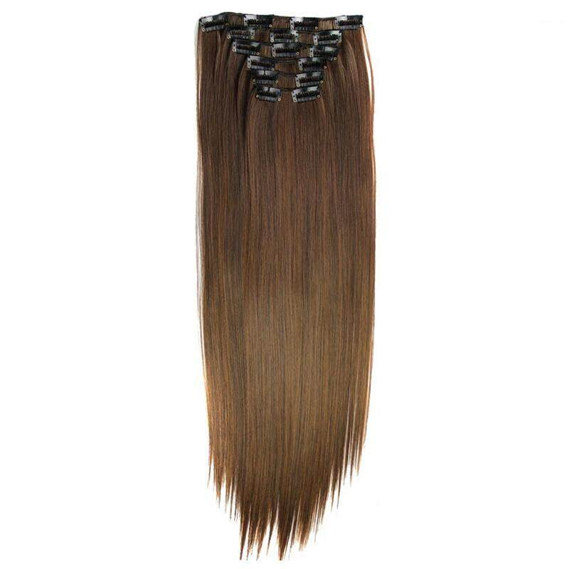 Color Lens Source · Clip In Hair Extensions 6pcs set Hairpiece 23inch 140g .