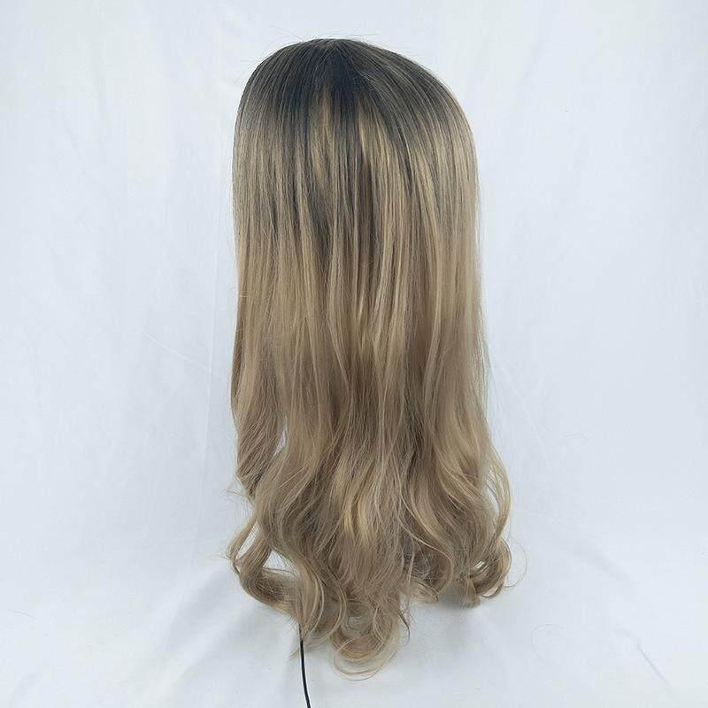 Detail Gambar Lifine Hitam untuk Linen Kuning Wig Keriting Panjang Terbaru