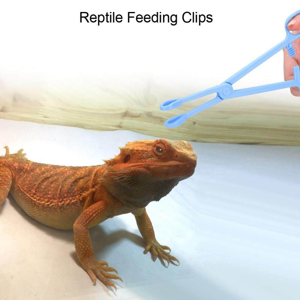 Plastic Reptile Terrarium Lizards Turtles Tongs Clips Tweezers Pet Raising Feeding Tool - Intl By Minxin.
