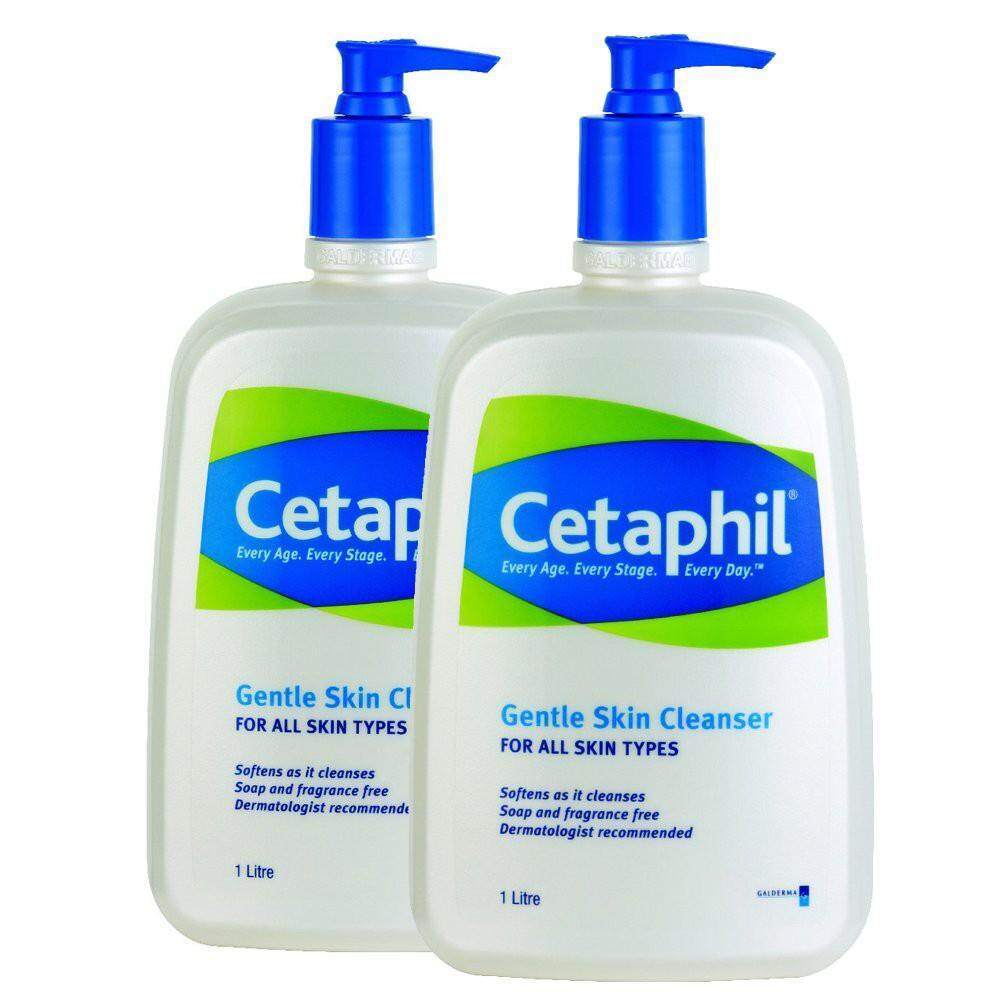 CETAPHIL GENTLE SKIN CLEANSER 1LITRE (TWIN PACK)