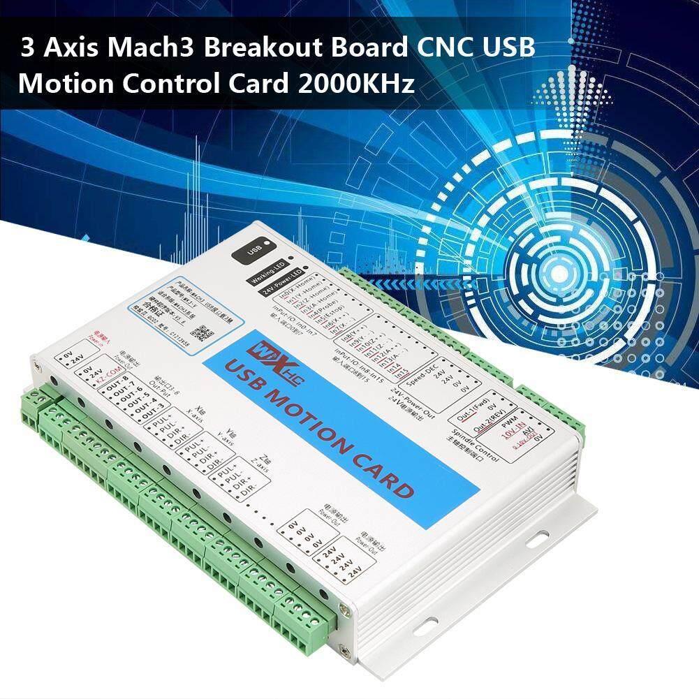 3 Axis Mach3 Papan Breakout Cnc Usb Gerak Kartu Kontrol 2000 Khz By Minxin.