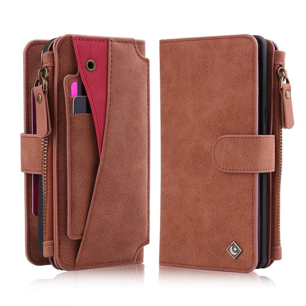 Galaxy Note 8 Case, Meishengkai Premium PU Leather Multi-function Zipper Purse [Magnetic