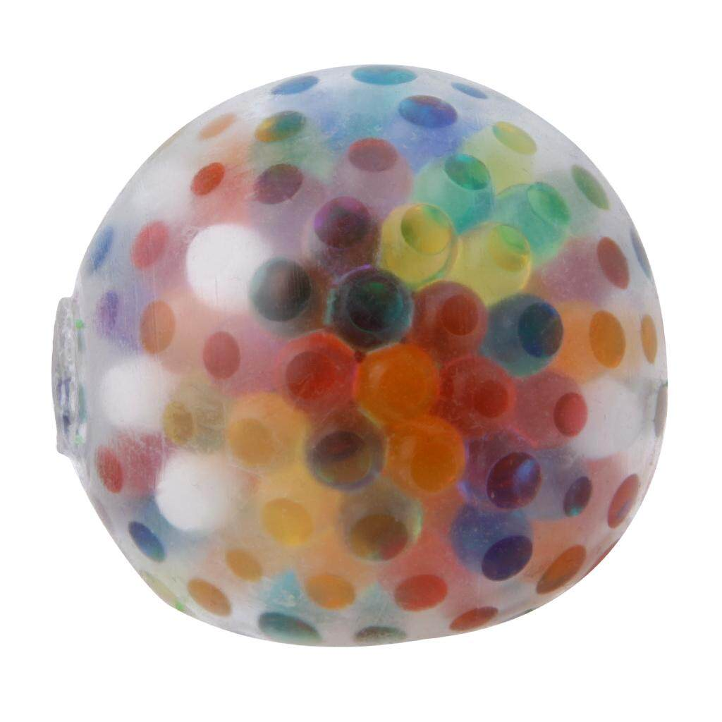 Buy Sell Cheapest New Stress Ball Best Quality Product Deals Mainan Relaksasi Tangan Hand Fidget Spinner With 3 Light Colours Rainbow Toy Anti Relief Squeeze Venting Balls Intl