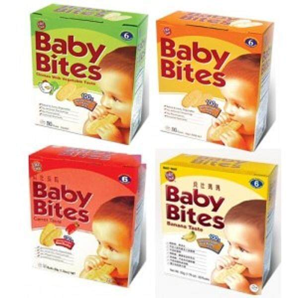 Want-Want Baby Bites Rice Rusks 24 Rusks 50g (Vegetable)