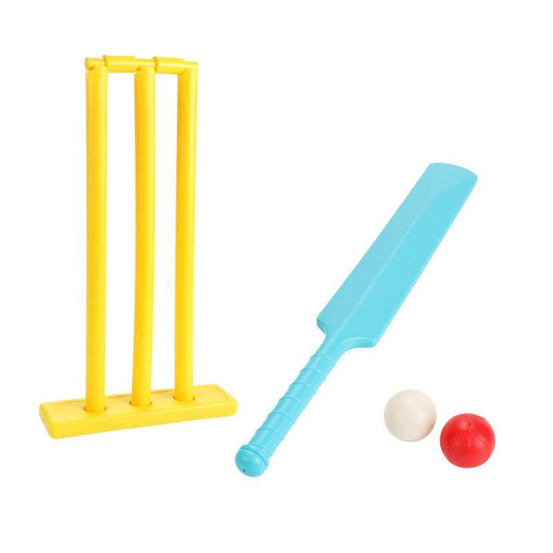 Childrens Plastic Cricket Bats Balls Playing Set Sports Toys Fitness Equipment Racquet Sports By Haha Buy.