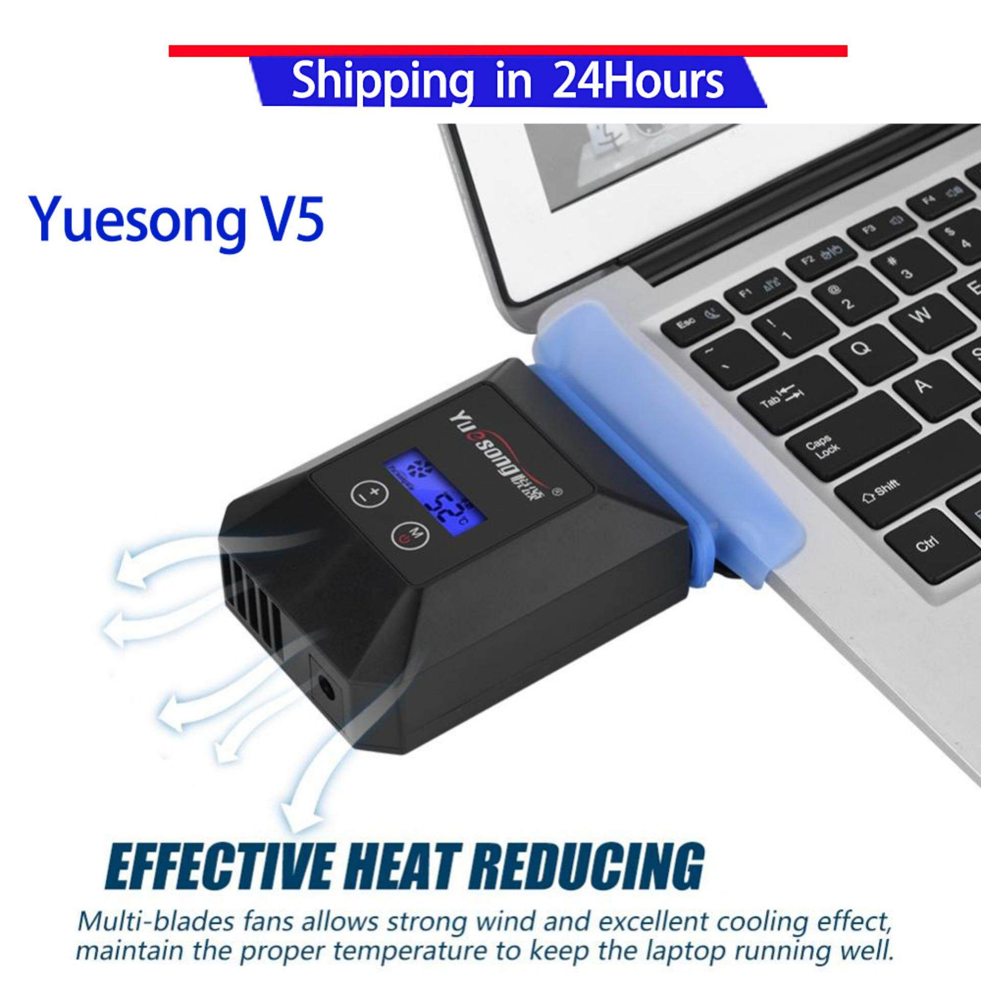 Yuesong V5 USB Portable Laptop Cooler Portable Laptop USB Suction Type Cooling Fan Notebook Cooler Laptop Cooling Pads Malaysia