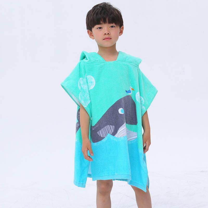 Power Source Cute Cartoon Hooded Childrens Beach Towel Robes Printed Boys And Girls Animal Pattern Children Swimming Microfiber Bath Towel Clients First Aprons
