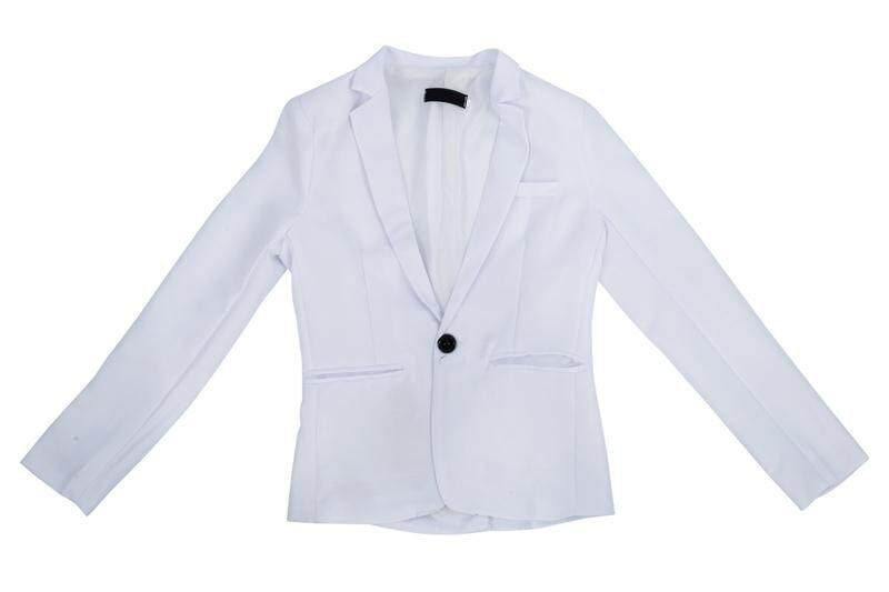 Stylish Sexy Men's Slim Fit Suit One Button Business Casual Blazer Coat Jacket White Size L=US UK S
