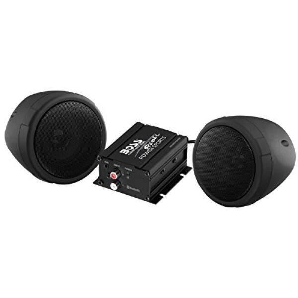 Audio BOSS MCBK420B Bluetooth Semua Medan, Speaker Tahan Air dan Bunyi Pengeras Suara Sistem Dua 3 Inch Speaker, bluetooth Amplifier, Inline Kontrol Volume, ideal untuk Sepeda Motor/ATV dan 12 V Aplikasi/dari Amerika Serikat-Intl