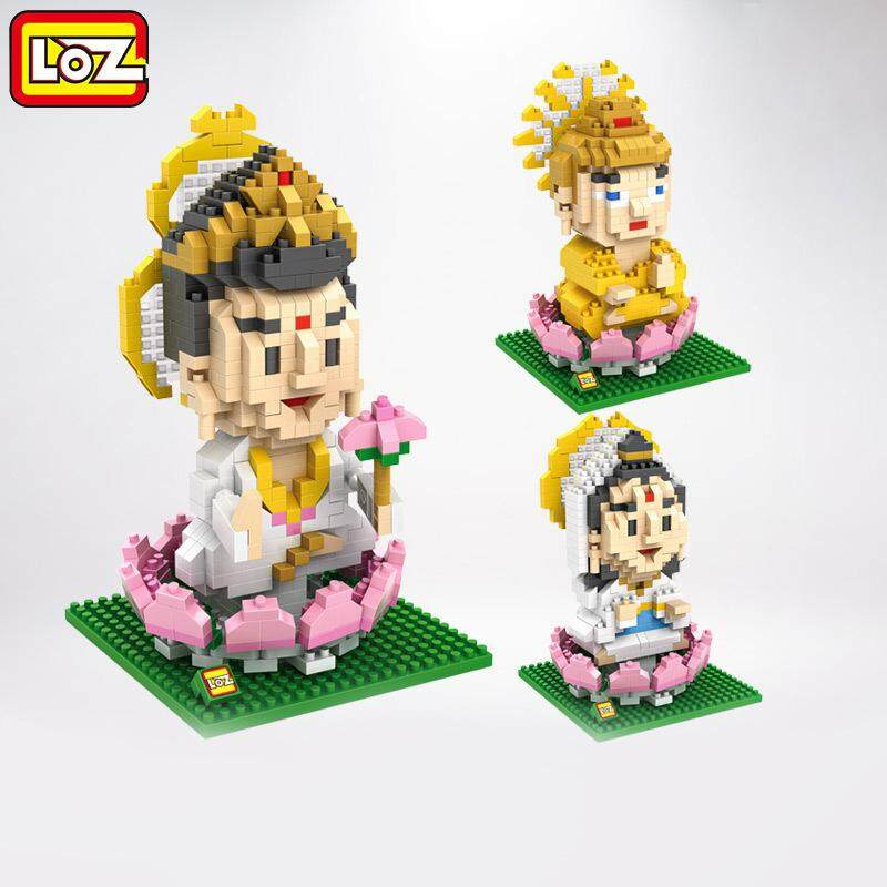 Loz Toys Chinese Culture Buddha Plastic Toy Bricks Building Blocks Lot Brinquedos Assembled Kids Loz Nano Blocks Children Gift By Your Warehouse.