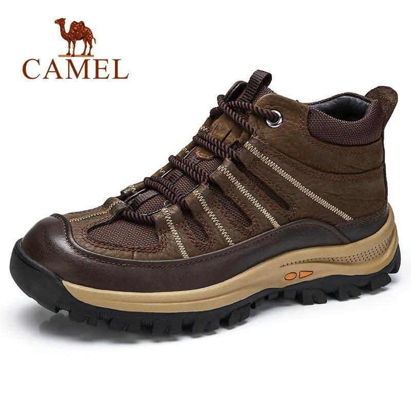 Camel Sepatu Pria Bot Musim Dingin Pria Sepatu Mendaki Antiselip Tahan Aus  Wax Boot Tinggi Kulit ad22ad3b25
