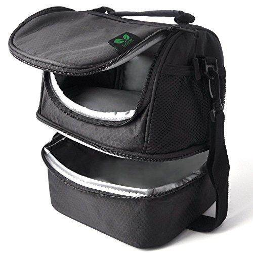 7c4b8c779a6b F40C4TMP Lunch Box, Insulated Lunch Bag Waterproof Lunch Cooler Bag for Men  Woman Kids Dual Compartment Keep Warm and Cold with Pocket Shoulder Strap  ...