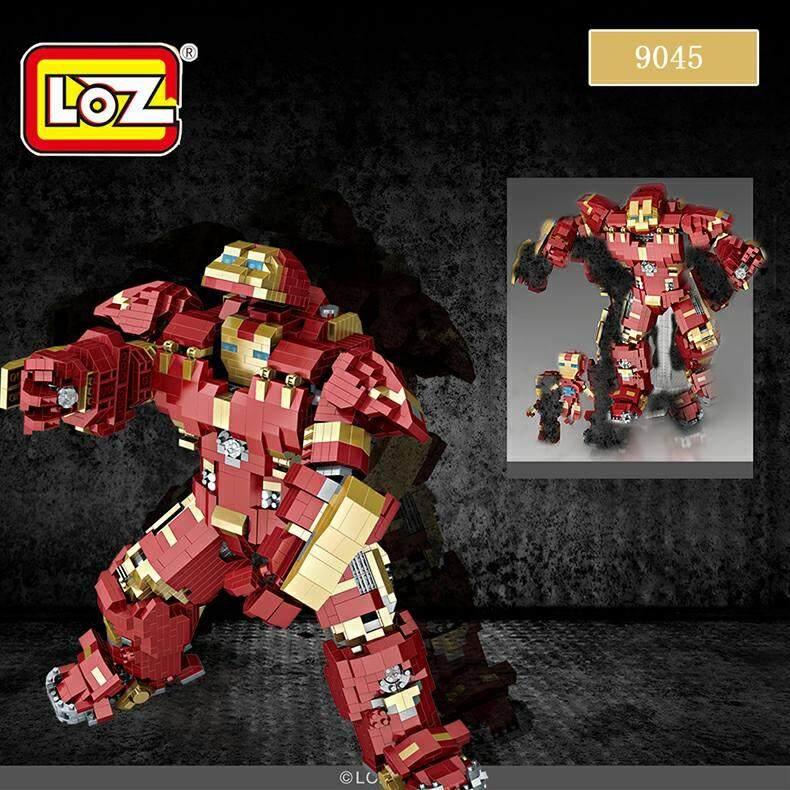 Big Size Ironman Iron Man Anti-Hulk Suit Armor Mark XLIV Loz MINI Building Block