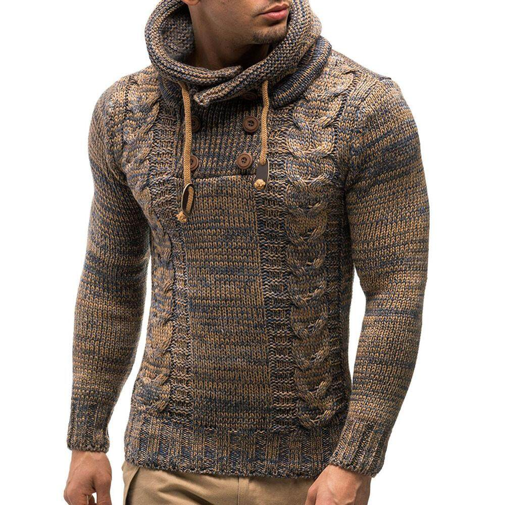 f6b750ad99 Fashion Men s Autumn Winter Pullover Knitted Cardigan Coat Hooded Sweater  Jacket Outwear