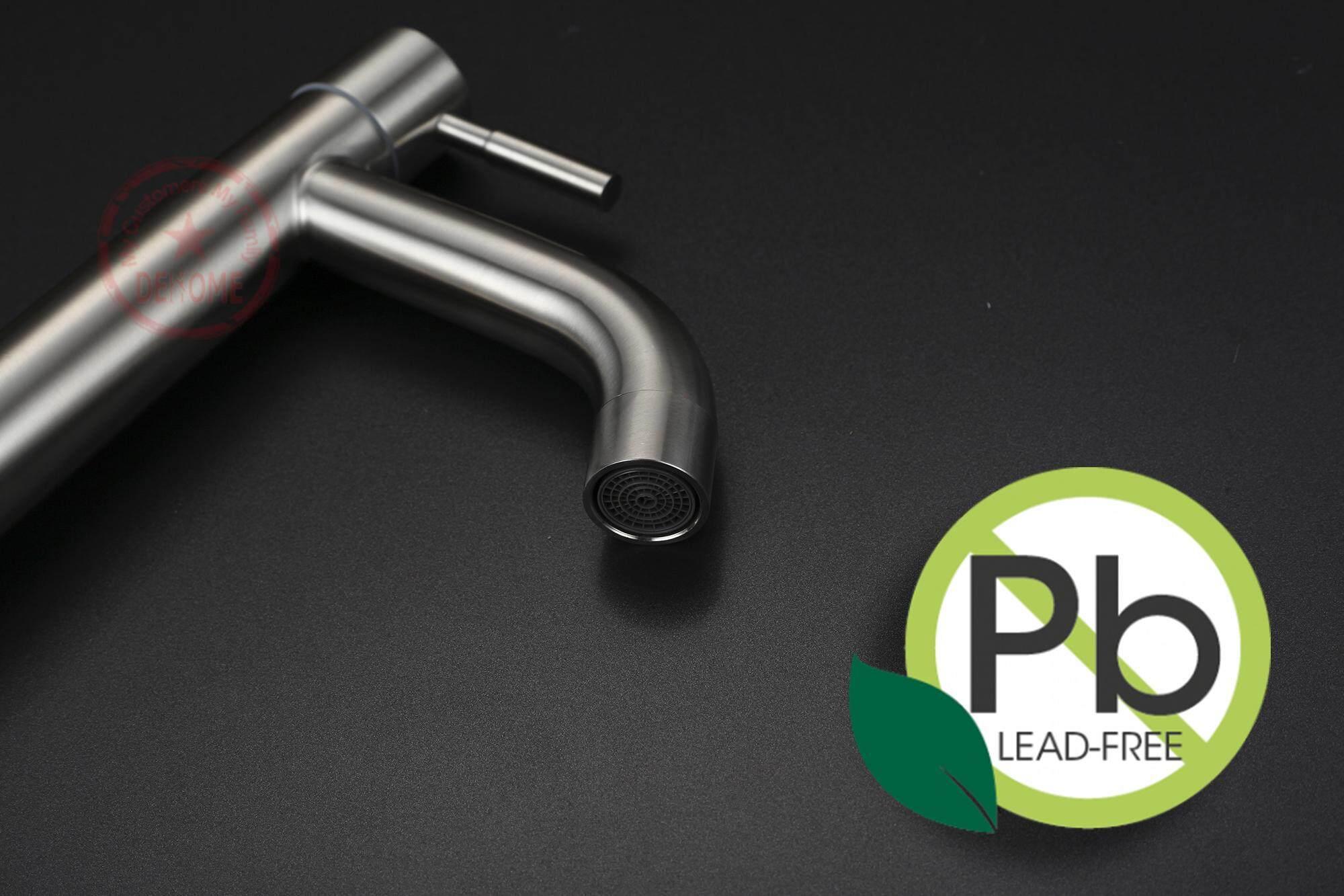 B6101 Stainless Steel SUS304 Modern Single Handle Bathroom Faucet ...