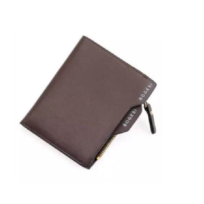 Bogesi AP006 Men WLT-006 Luxury Fashion Business PU Leather Zipper Wallet