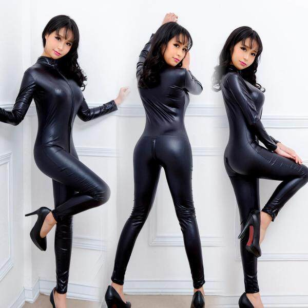 Nơi bán Sexy Đồ Lót, Áo Khoác Da Một Mảnh Quyến Rũ Đồng Phục, Với Dây Kéo Dài Cơ Thể Hình Thành Bằng Sáng Chế Da Phụ Nữ