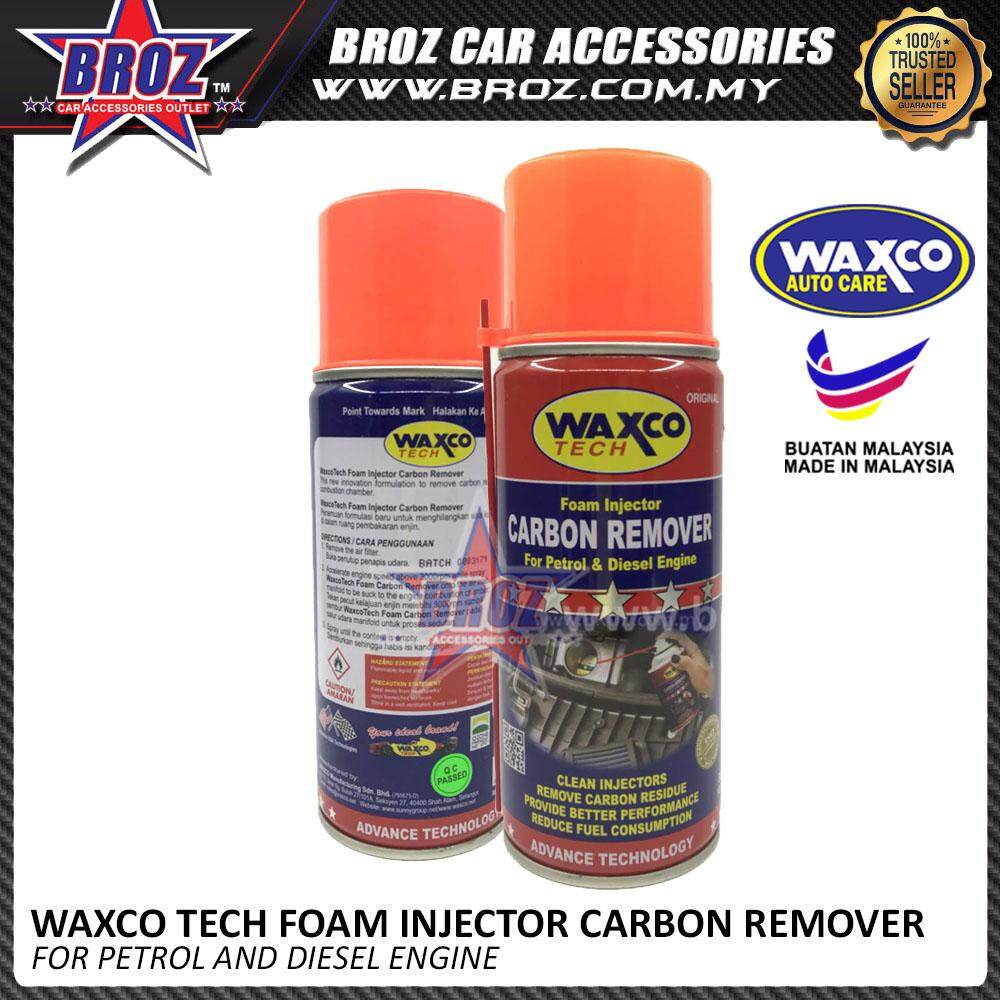 Broz Waxco Tech Foam Injector Carbon Remover For Petrol and Diesel Engine 300ML