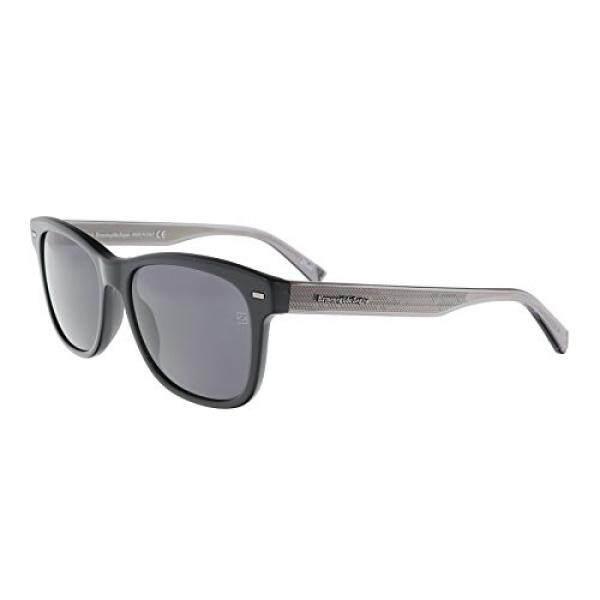 Ermenegildo Zegna EZ0028-N 01A Black/Silver Square Sunglasses