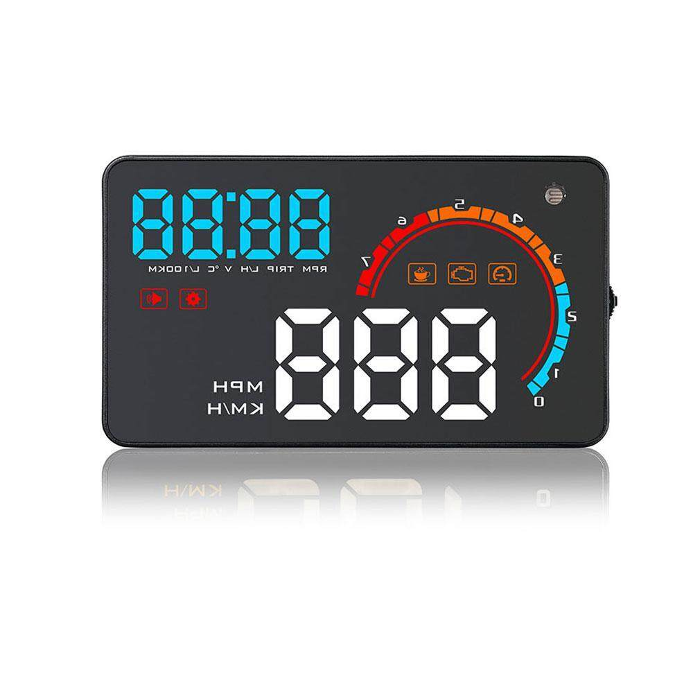 Niceeshop Hud Head Up Display Compatible With Obdii/obd2 Or Eu Obd Car Plug & Play Speedometer Measurement Km/h Mph By Nicee Shop.
