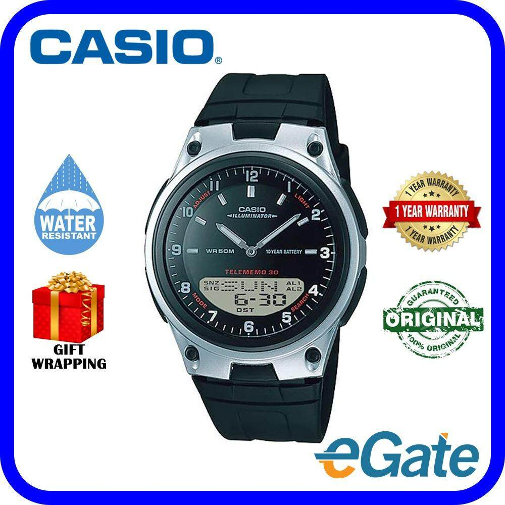 Features Casio Aw 80 7avdf Telememo 10 Years Battery Life Black Aeq 200w 9a 1av Digital Men Watch Silver Casual Original