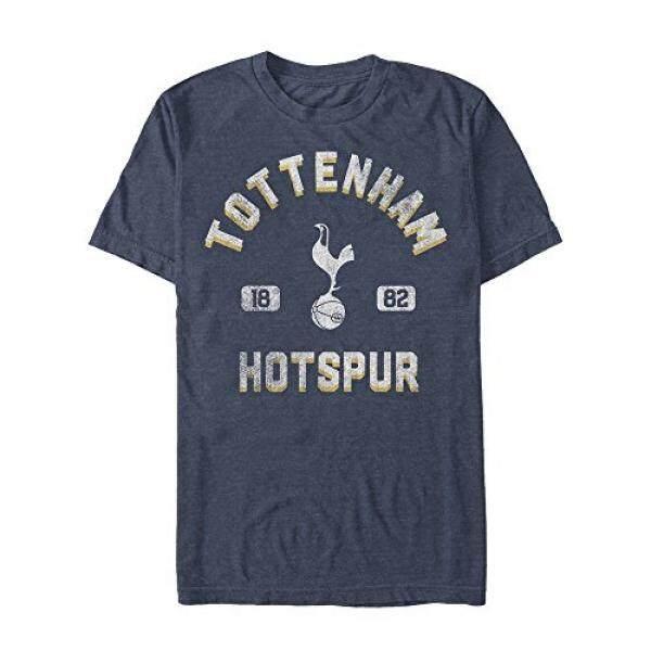 Tottenham Hotspur Klub Sepak Bola Mens Distressed Logo Burung Biru Dongker Heather T-shirt-Intl