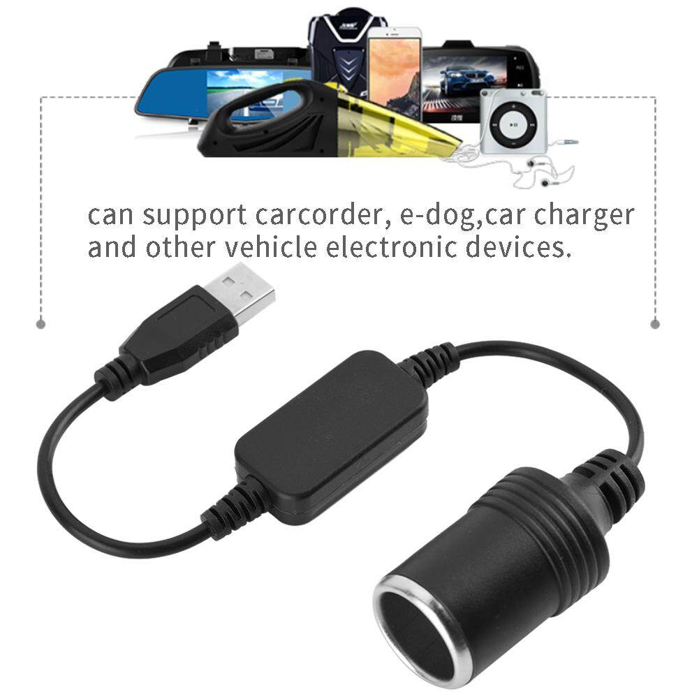 Usb Port To 12v Car Lighter Socket Female Converter Adapter Cord By Dewin.