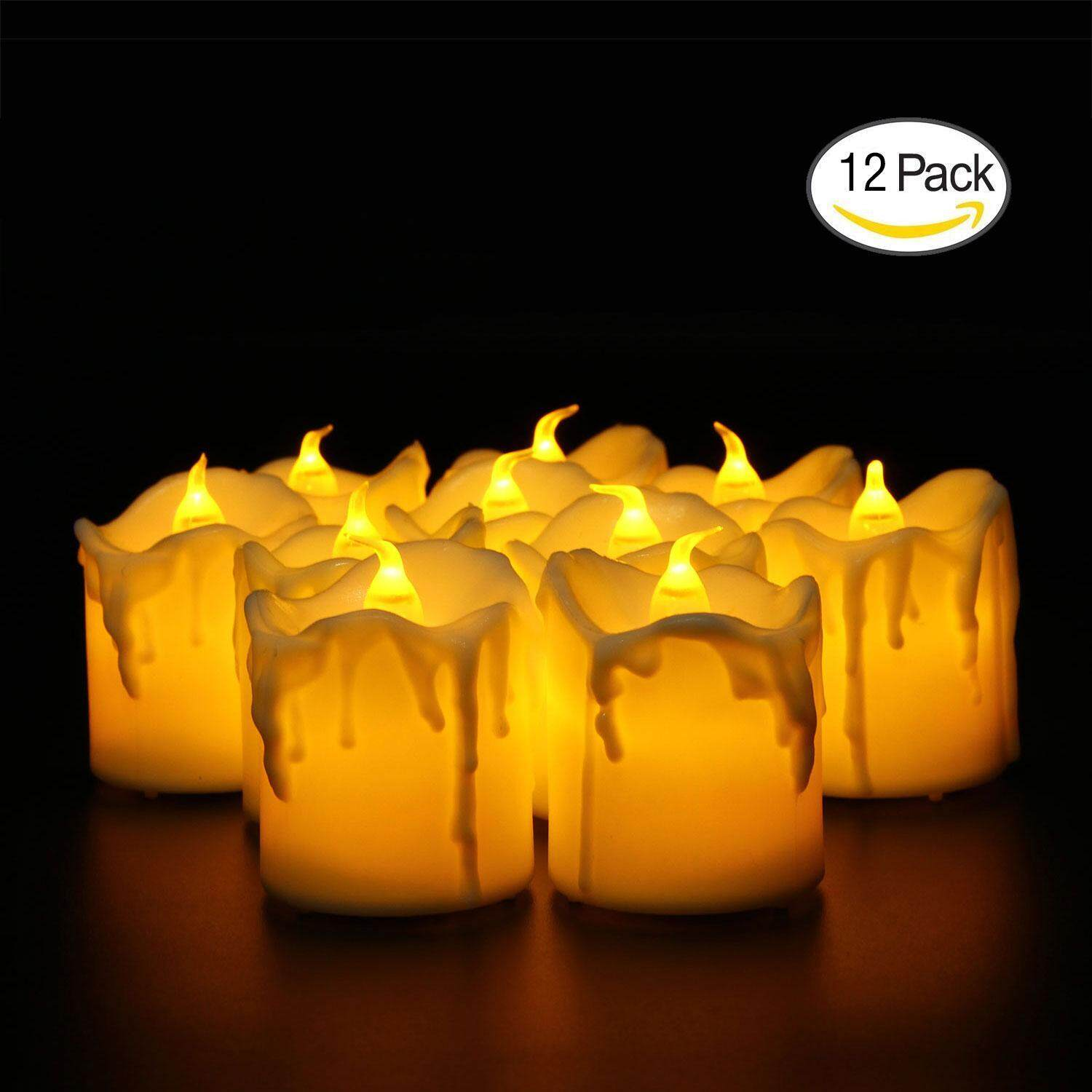 OrzBuy LED Tea Lights Candles,Flameless Candles Operated LED Candles, Flickering Tealight Candles,