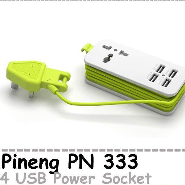 Original Pineng Power Extension USB Socket  Smart Charger 5V2.1A 4 USB PN 333