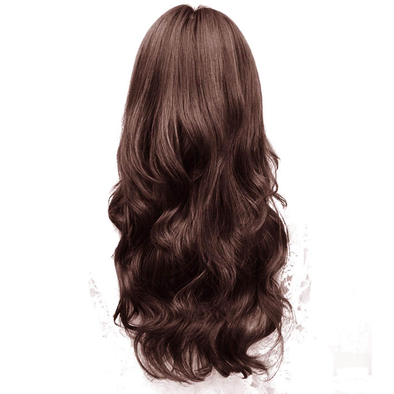 Penjepit Modis Di Keriting Ombak Wig Perpanjangan Rambut Hairpieces 20X60 Cm Matt Brown