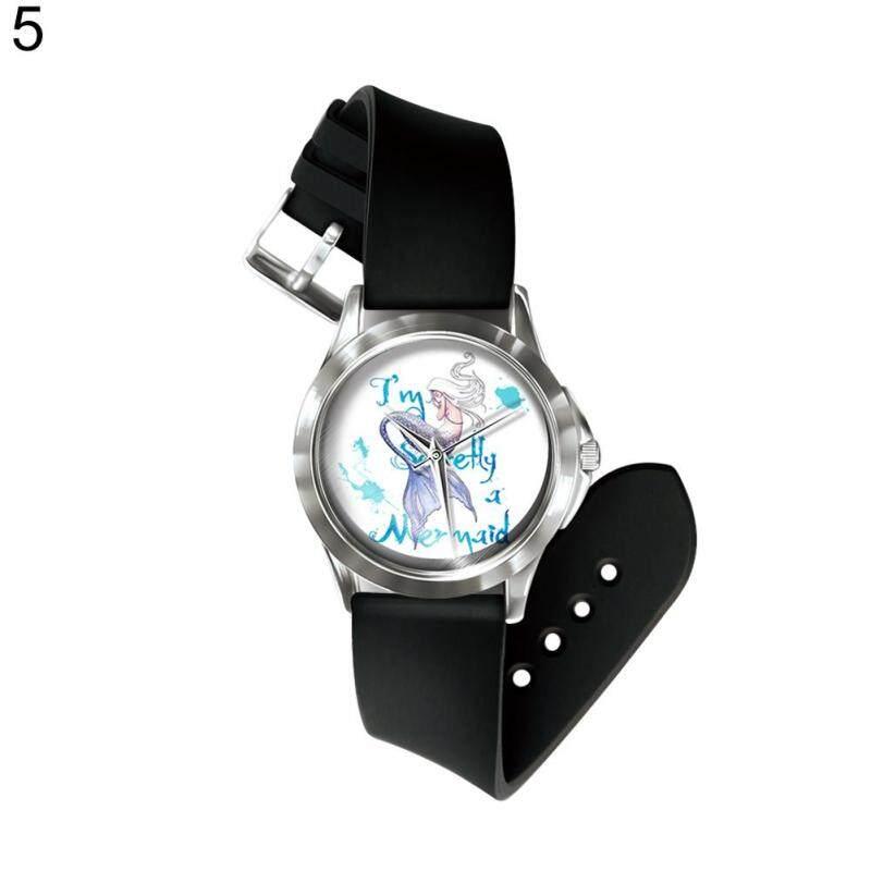 Phoenix B2C Number Free Quartz Wrist Watch Colorful Cartoon Mermaid  Band Hand Decoration (5#) Malaysia