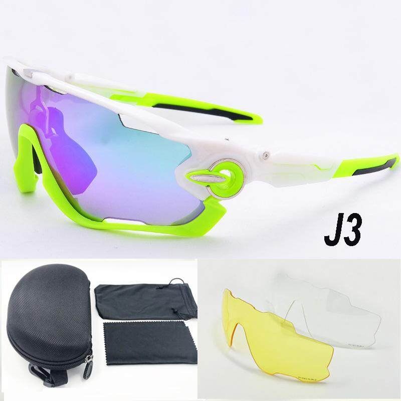 d020ae7f8f 3 Lens Brand Designer Jaw Breaker Cycling Glasses Eyewear TR90 Men Women Outdoor  Sports Bike Bicycle