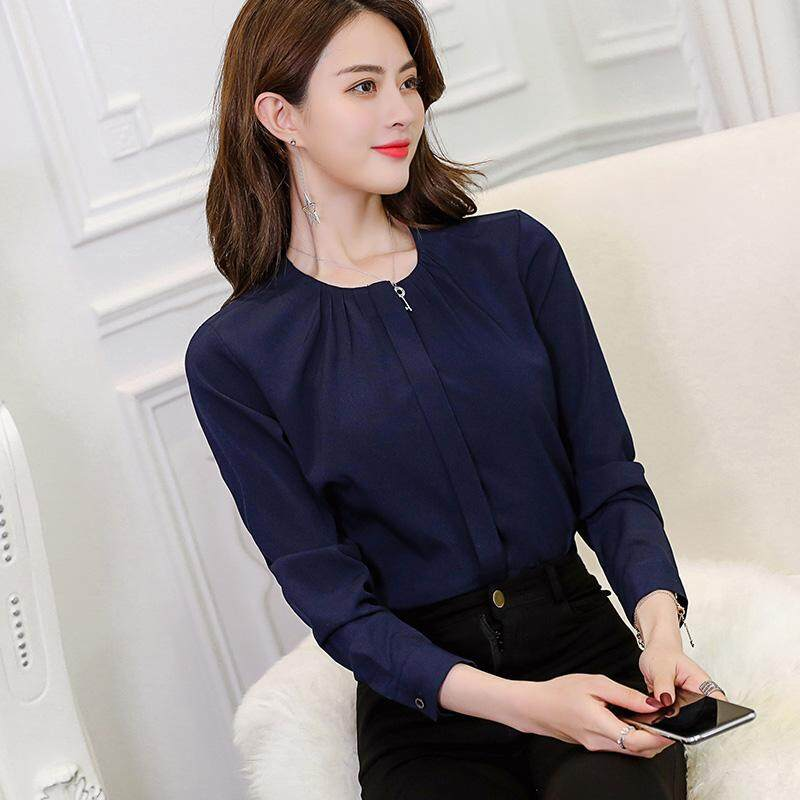 Caidaifei Korean-style spring-summer New style Plus-sized chiffon shirt