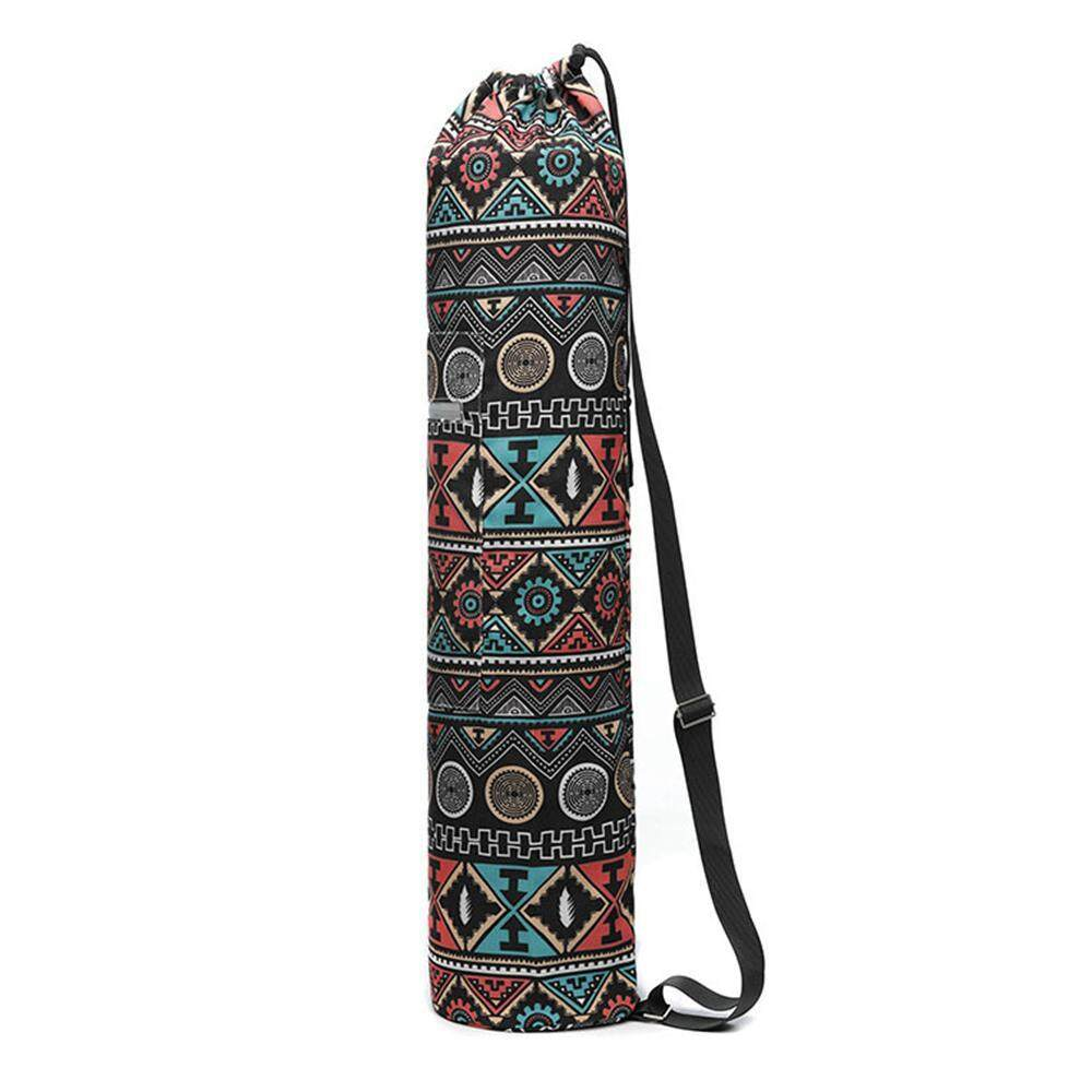 Buyinbulk Yoga Mat Carrier Bag, Full Zip Canvas Exercise Yoga Mat Carry Bag With Storage Pocket And Adjustable Shoulder Strap - Fits Most Size Mats By Buyinbulk.