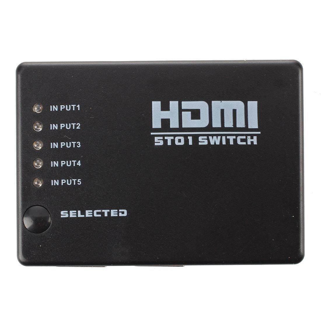 Seller Of Moonar 4k 5 Port Ultra Hd 3d Hdmi Auto Switch Switcher Ir Remote Mini 1080p Video Splitter With