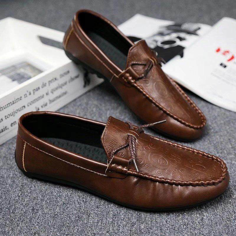 2018 Casual Mens Leather Shoes Summer 2017 Spring Fashion Loafers for Man Flats Moccasins Mens Shoes Slip On Driving Shoes - intl