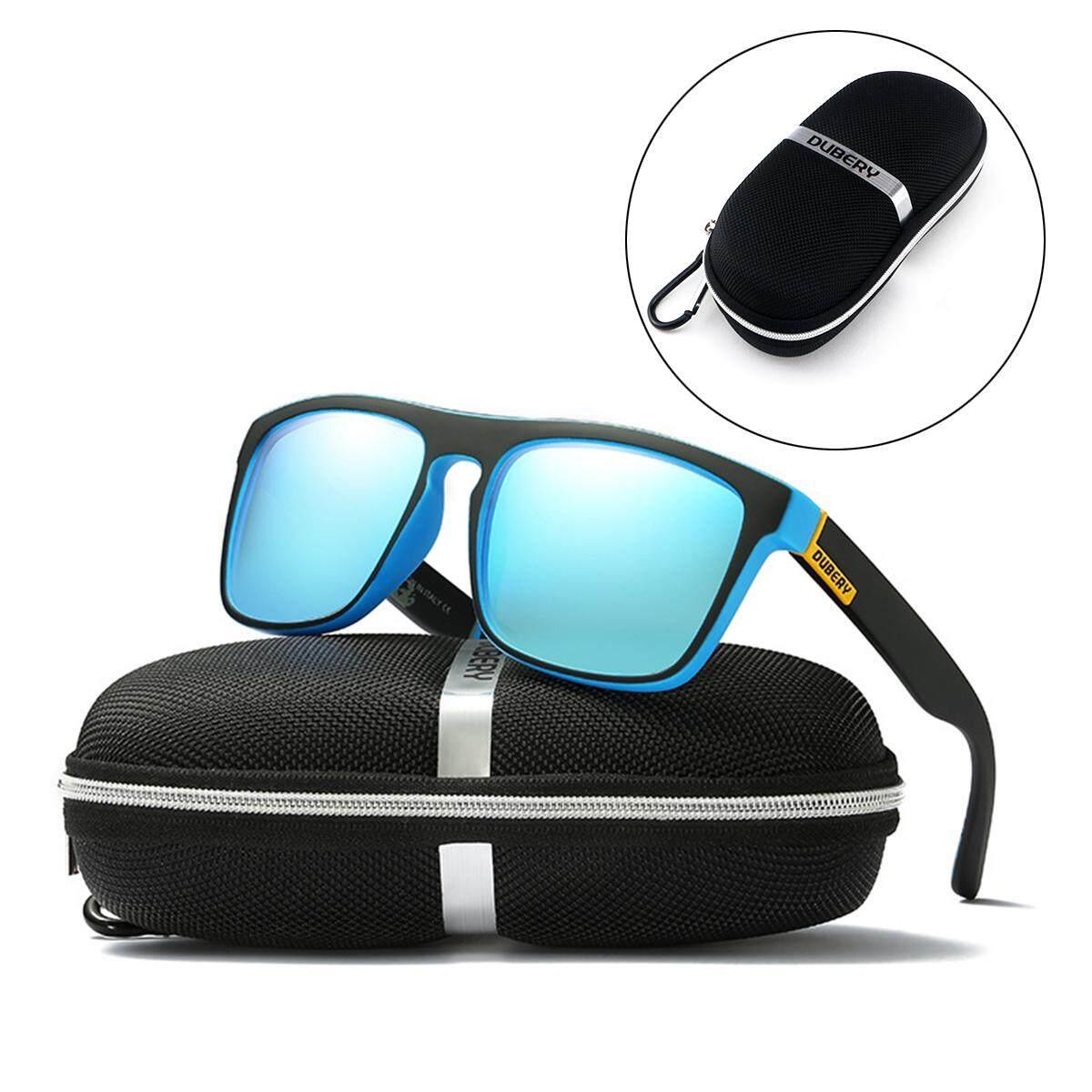 592b34052b6e5 DUBERY Sunglasses Box Glasses Zipper Case Bag Pouch w  Cloth Polarized Test  Card - intl