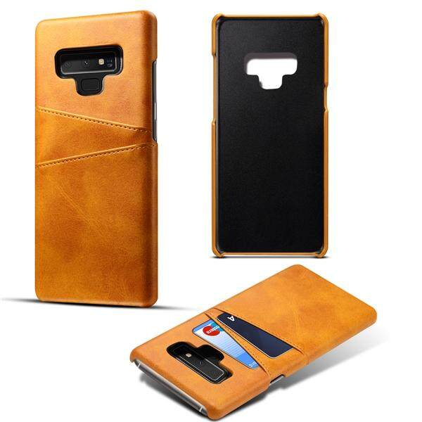 Moonmini Case for Samsung Galaxy Note 9 Back Case Calf Grain PU Leather TPU Phone Case