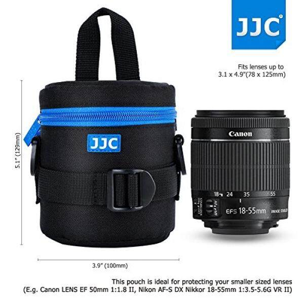 78x125mm Deluxe Lens Pouch Case Bag with 120cm Shoulder Strap for Canon 50mm 10-18mm 18-55mm Nikon Sony Fujifilm Pentax Olympus Samsung Panasonic Lens