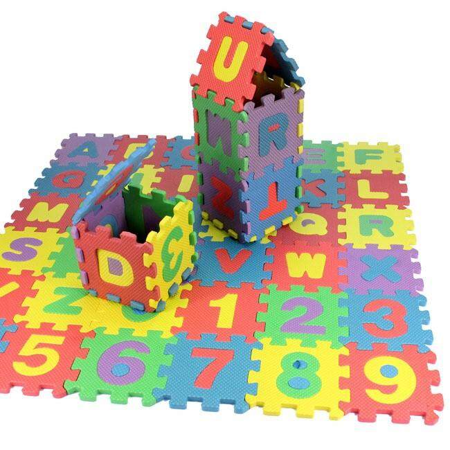 72pcs Baby Kids Mini Eva Foam Alphabet Letters Number Mat 3d Puzzles Educational Toys By Vividly