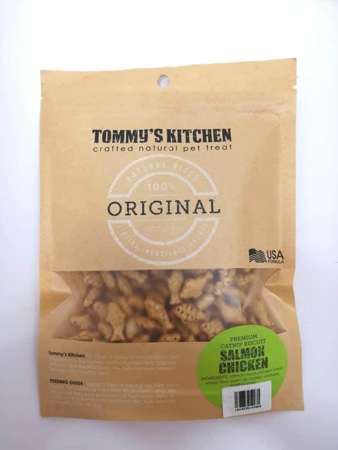 Tommy's Kitchen Premium Catnip Biscuit 100g (Seafood)