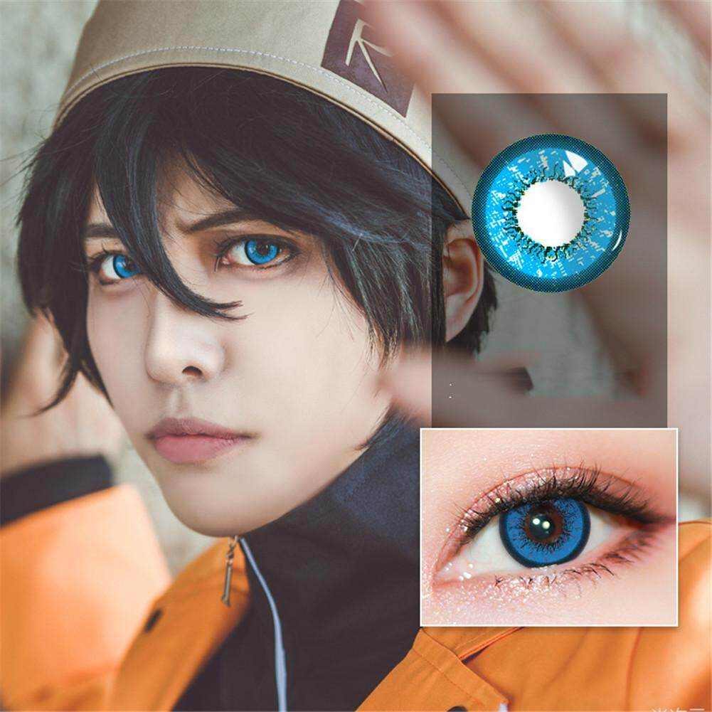 RYT 1 Pair of Love Words Style Colorful Cosmetic Contact Lenses for Halloween Cosplay Beauty Tools Philippines