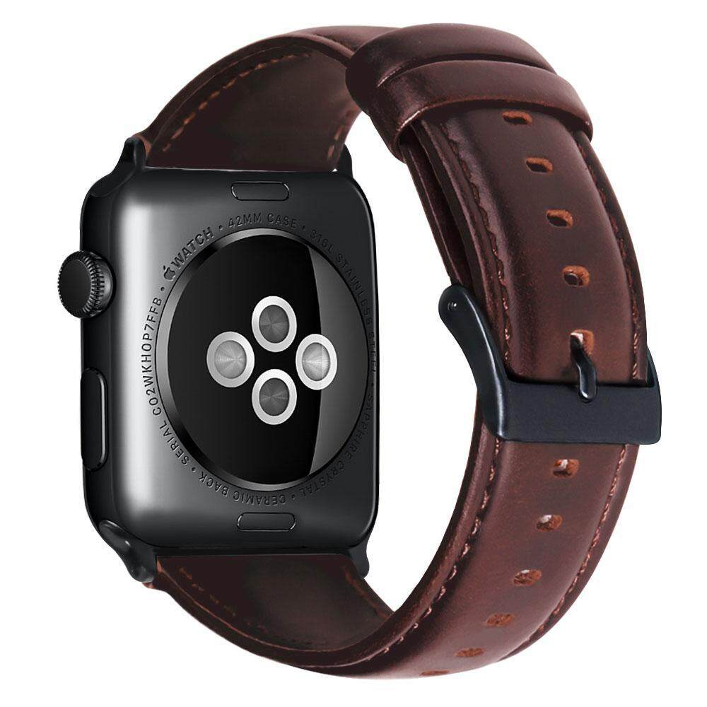 72c22fc0280 Top-Sky Leather Replacement Strap For Apple Watch 42mm