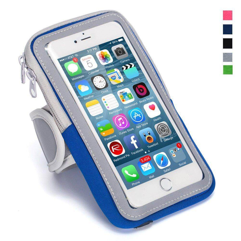 Waterproof Sport Running Arm Band Case Bag(Blue 4.7 Inch)