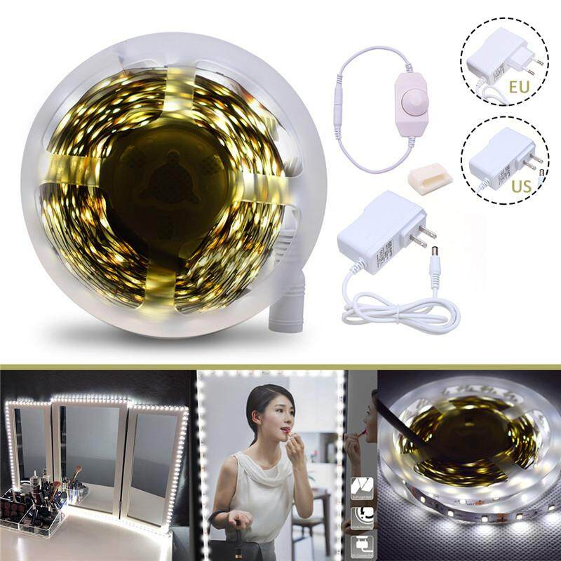 Sales Price Led Make Up Mirror Lights Kit Dimmable White Light 3500 4000Lm Strip Light Eu Plug Intl