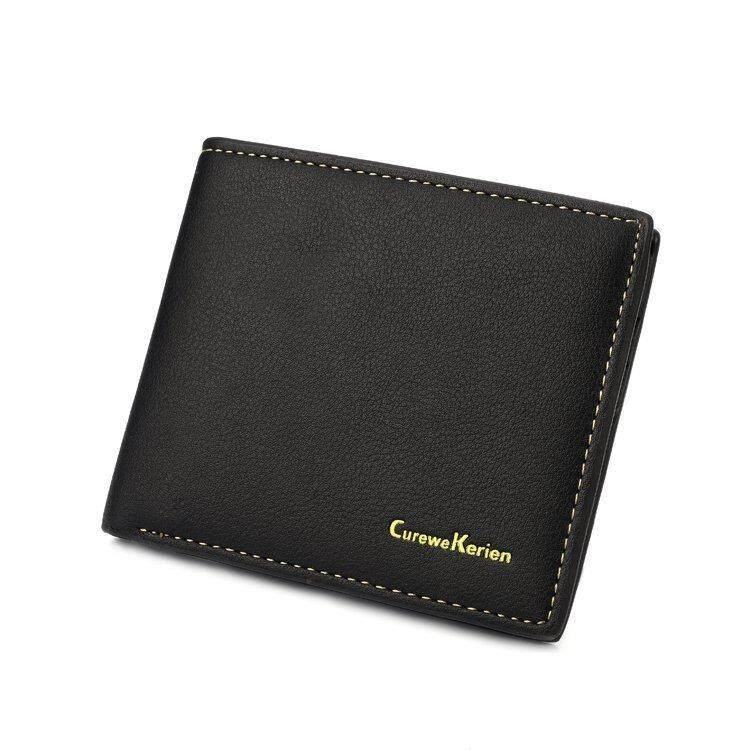 Curewe Kerien A2265 WLT-060 Curewe Kerien Casual Bifold Men Wallets [BROWN / READY STOCK]