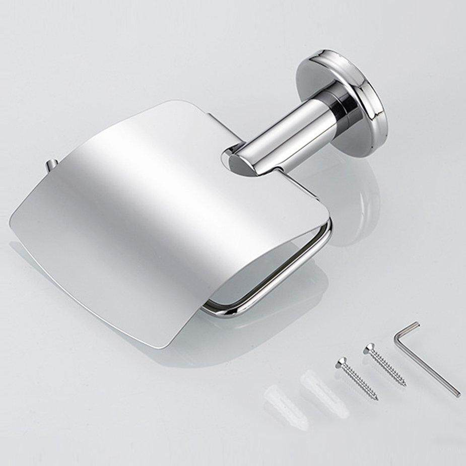 NO.1 Stainless Steel Anti-rust Tissue Holder Toilet Hanging Roll Paper Towel Rack